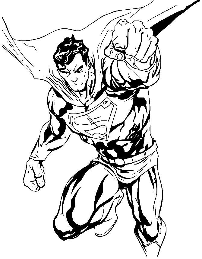 Imagem de Super Homem para pintar
