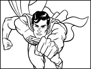 Desenhos para colorir do Super Homem