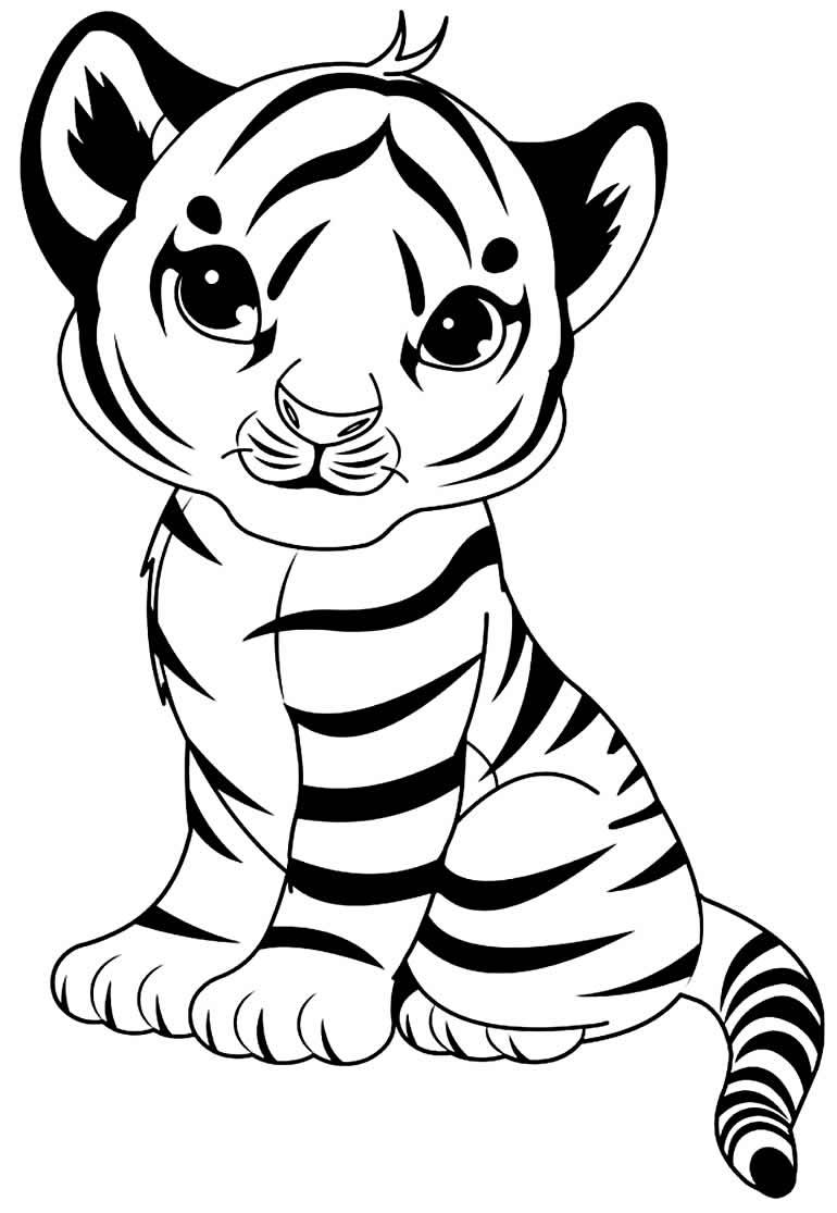 Desenho lindo de Tigre