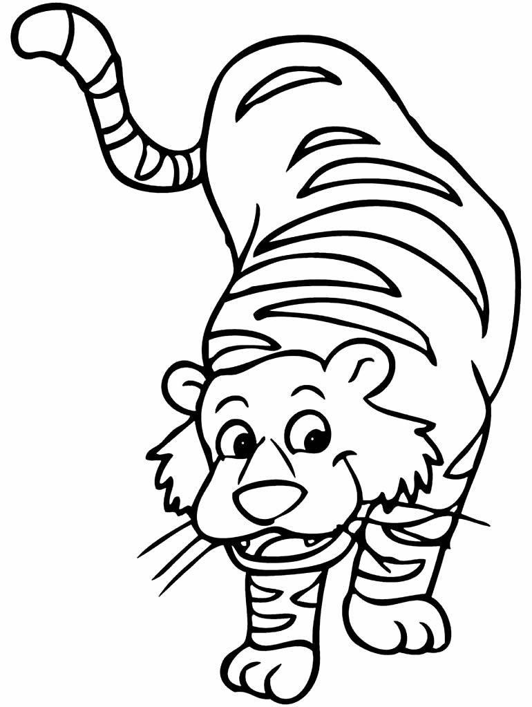 Desenho de tigre para pintar