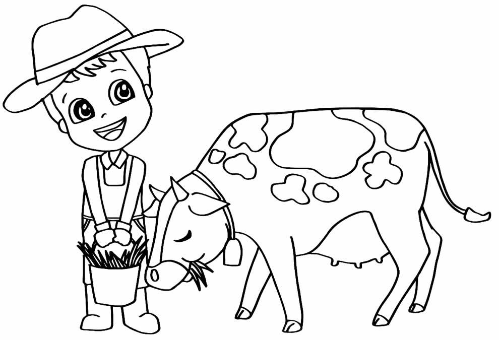 Desenho de vaquinha para pintar