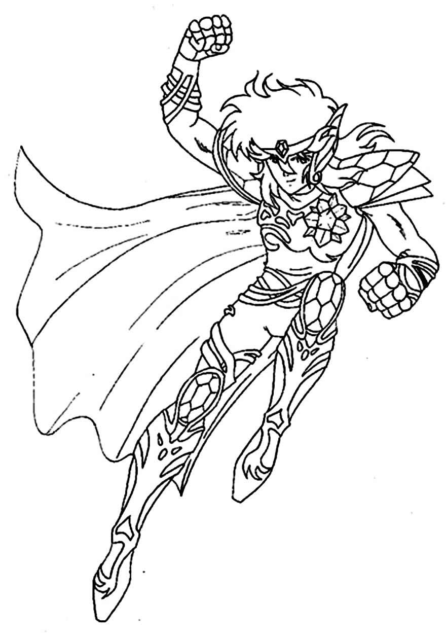 Desenho dos Cavaleiros do Zodíaco para colorir