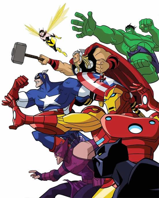 Desenho dos Vingadores