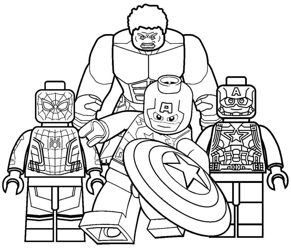 Desenho dos Vingadores Lego para colorir
