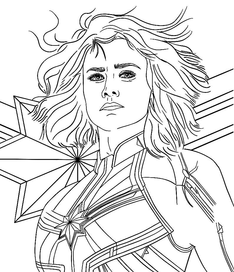 Molde da Capitã Marvel
