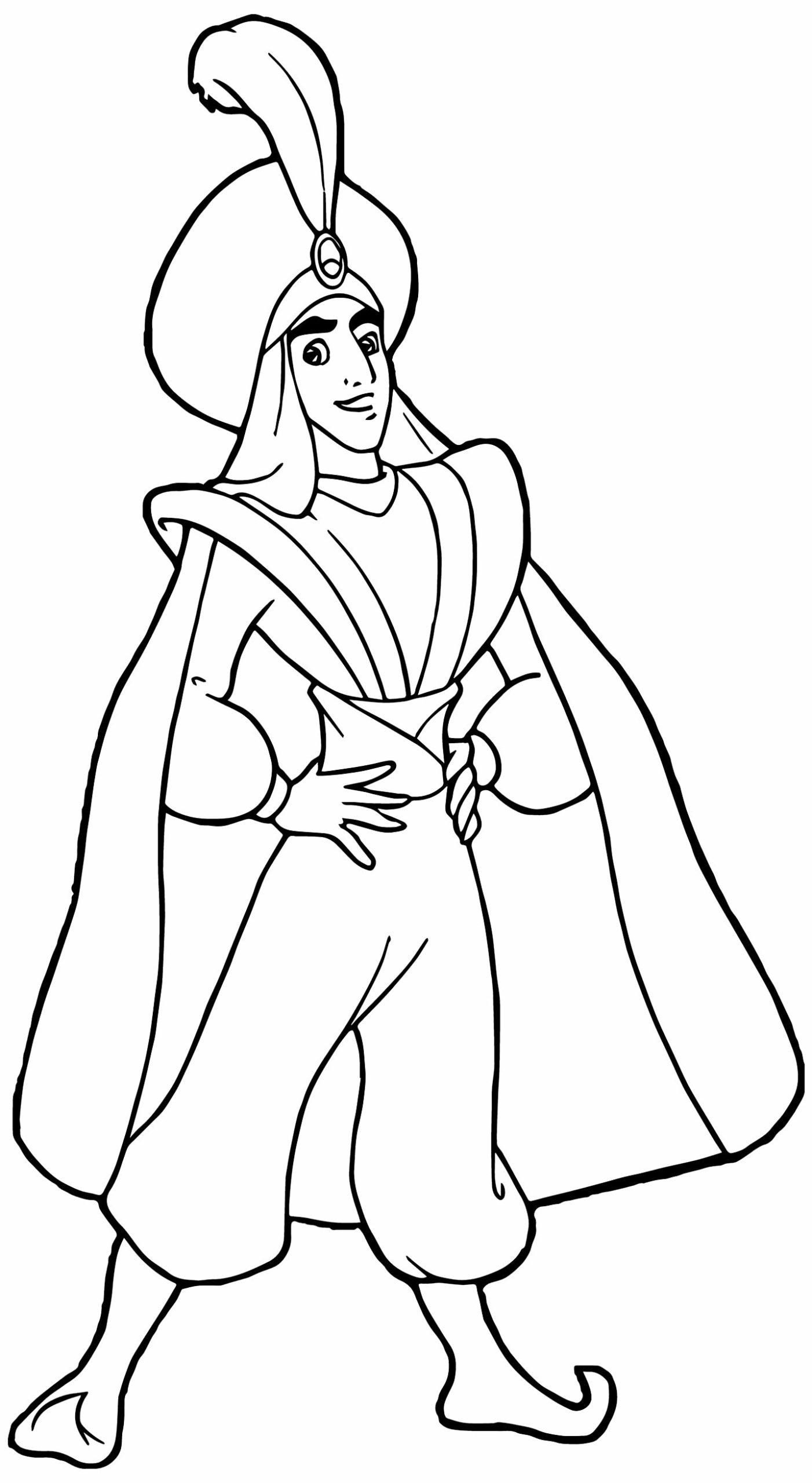 Molde do Príncipe Ali Aladdin para imprimir