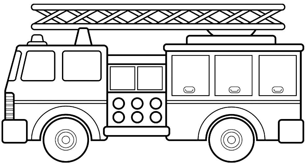 Desenho de caminhão para colorir