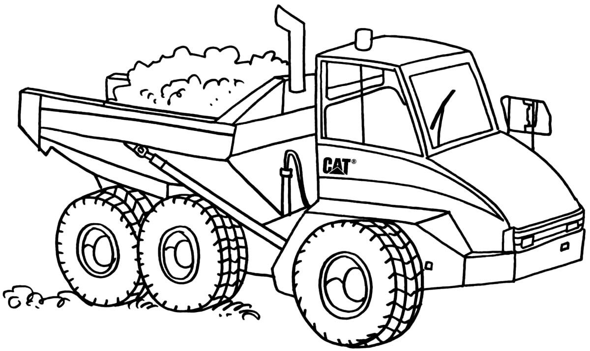 Imagem de caminhão para colorir