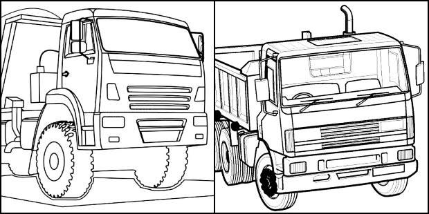 Desenhos de caminhão para colorir