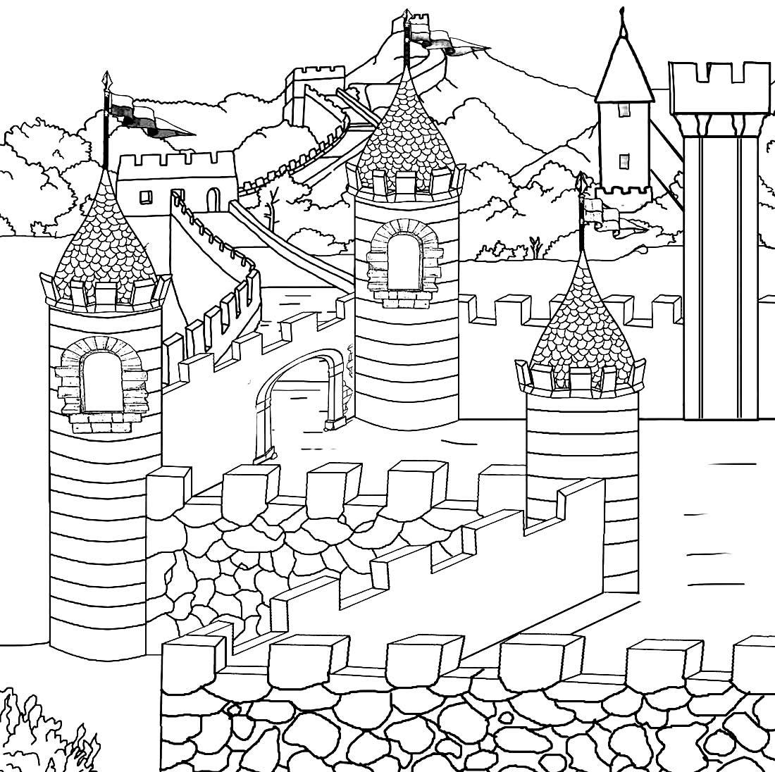 Imagem de castelo para pintar