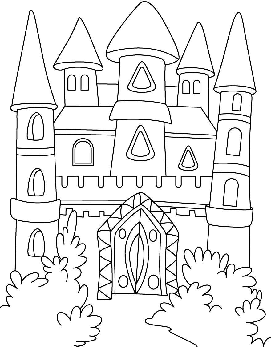 Imagem de castelo para colorir