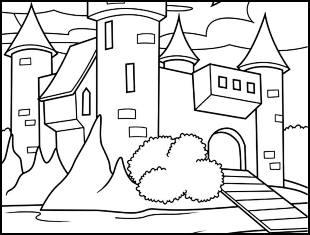 Desenhos de castelos para colorir