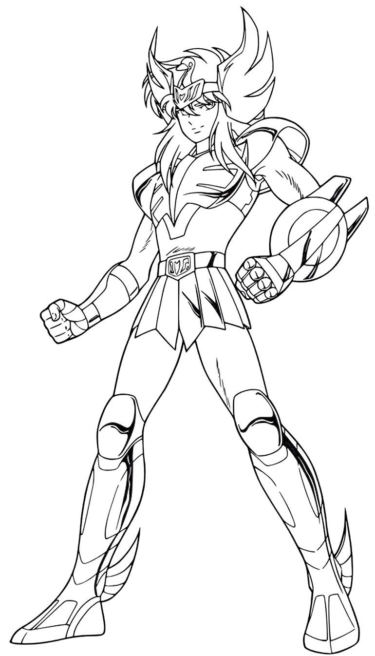 Imagem dos Cavaleiros do Zodíaco para colorir