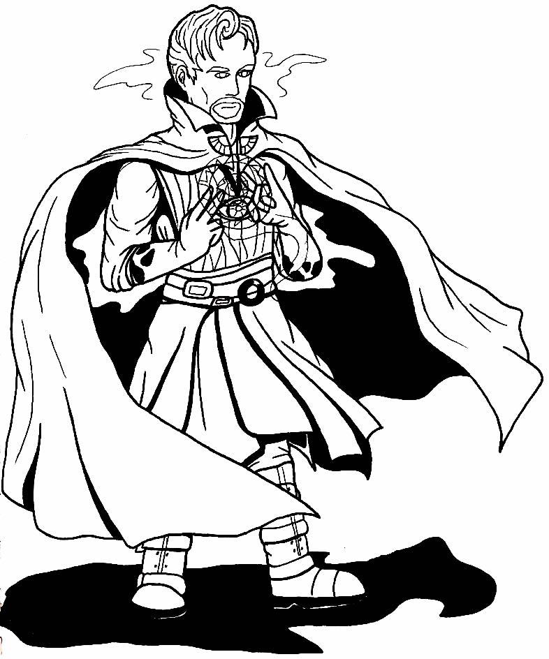Desenho do Doutor Estranho para colorir