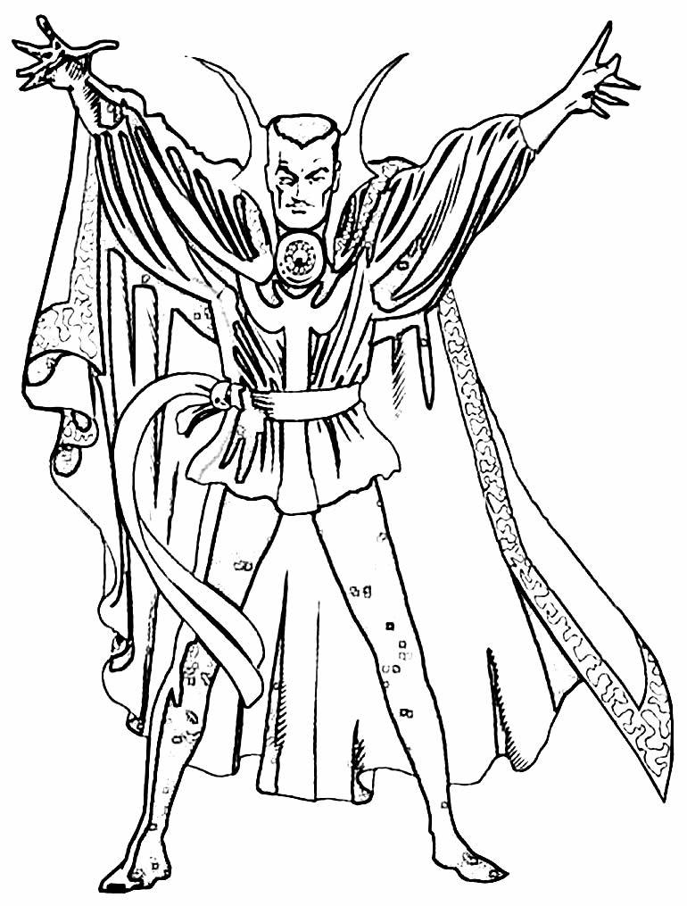 Desenho do Doutor Estranho para pintar