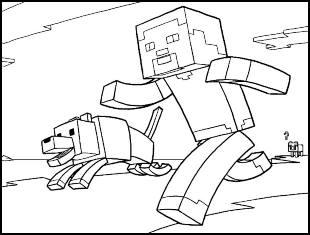 Desenhos para colorir de Minecraft