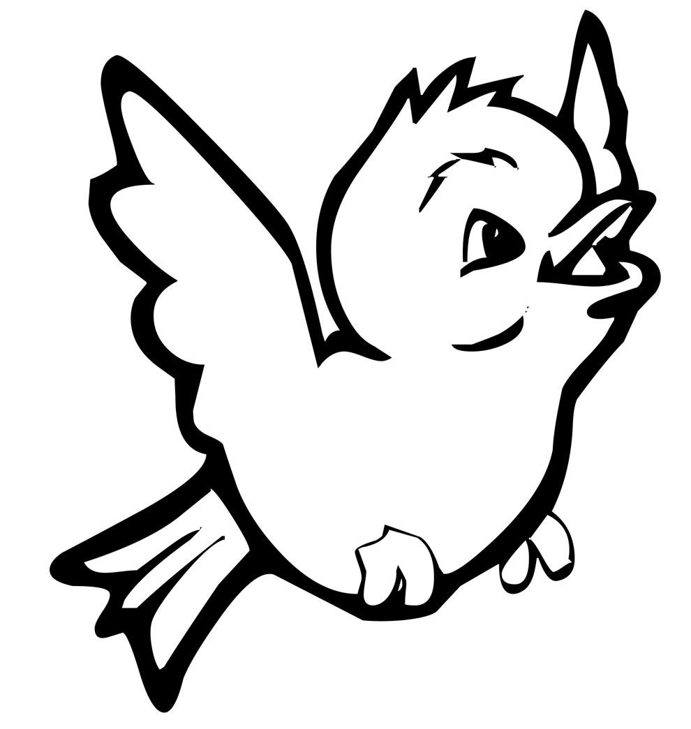 Desenho de passarinho para pintar