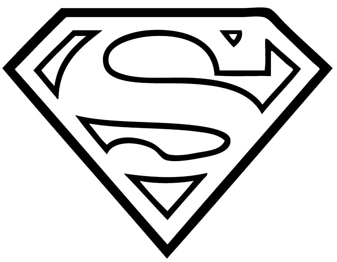 Desenho do Super Homem para colorir