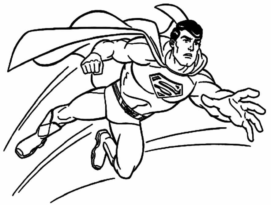 Imagem do Super Homem para pintar
