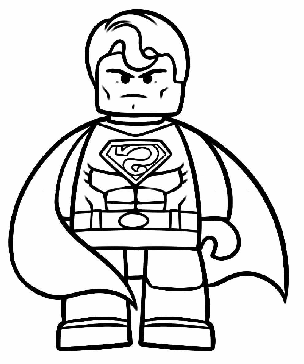 Desenho do Lego Super Homem para colorir