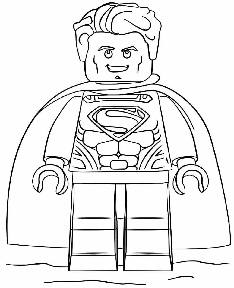 Imagem do Lego Super Homem para pintar