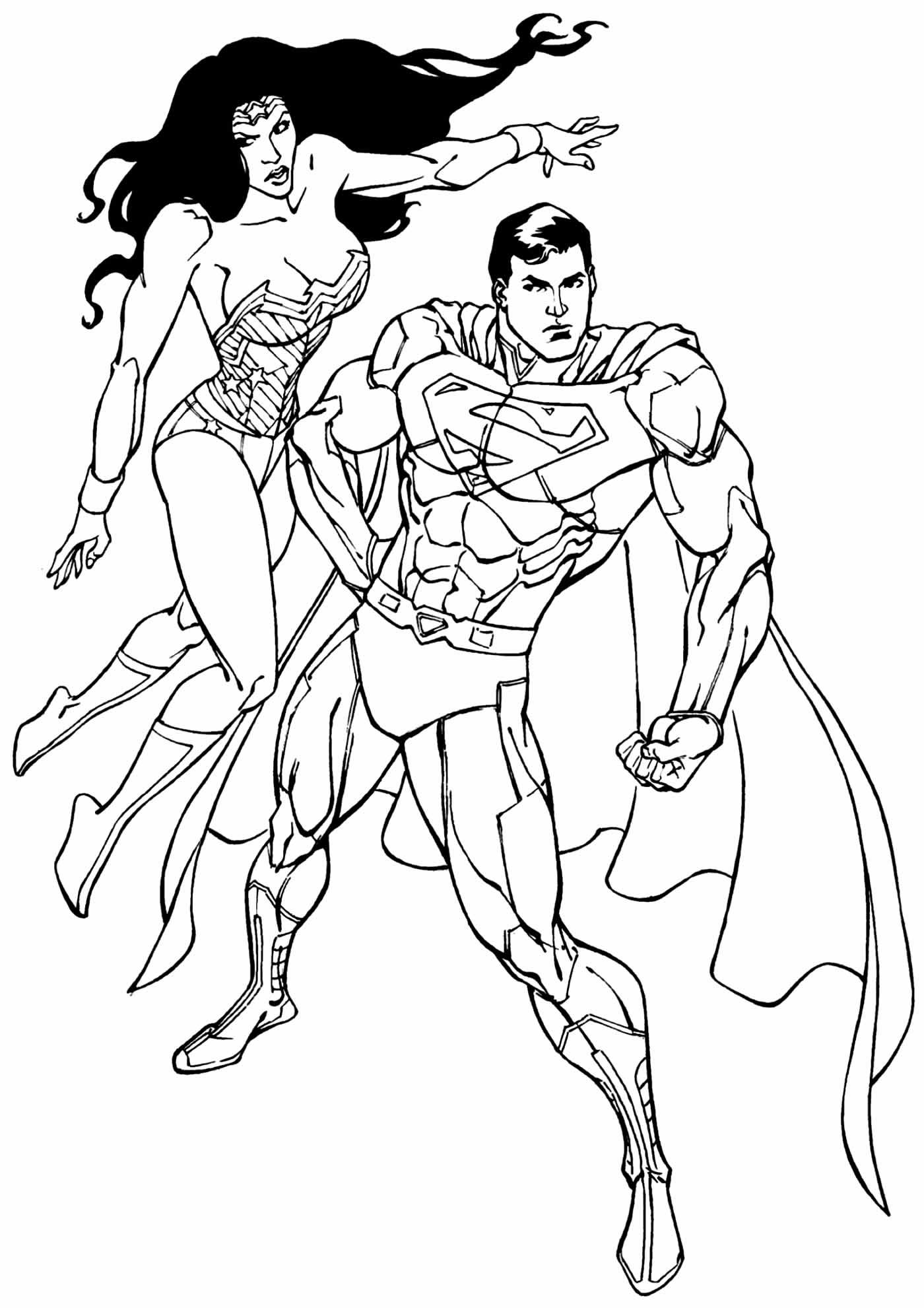 Desenho do Super Homem para pintar