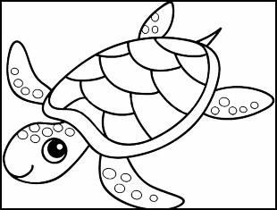 Desenhos de tartaruga para colorir