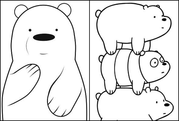 Desenhos do Urso sem Curso para colorir
