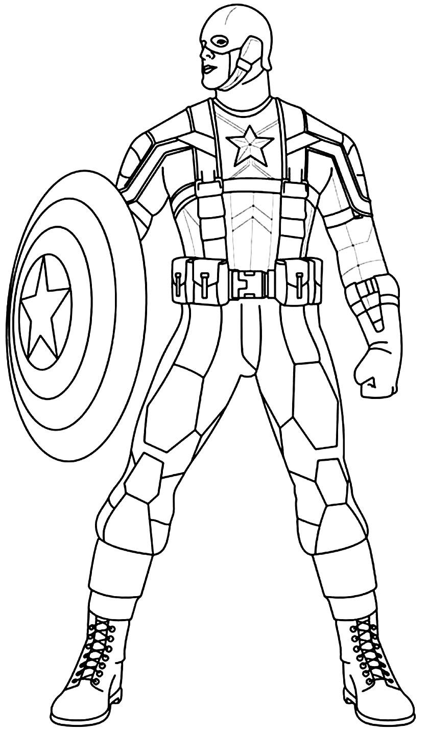 Desenho da Capitão América