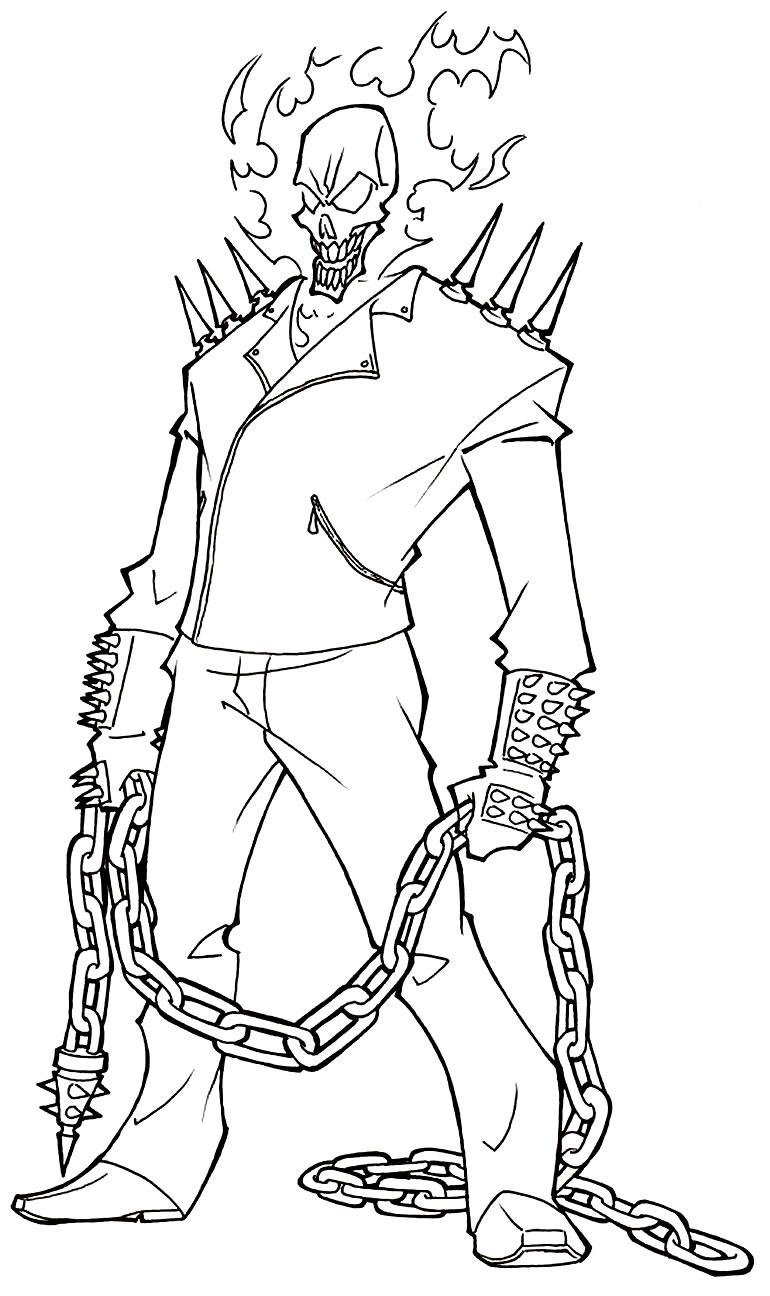 Desenho do Motoqueiro Fantasma