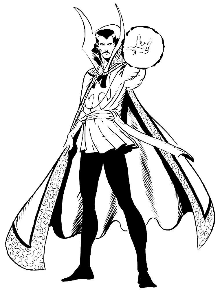 Desenho do Doutor Estranho
