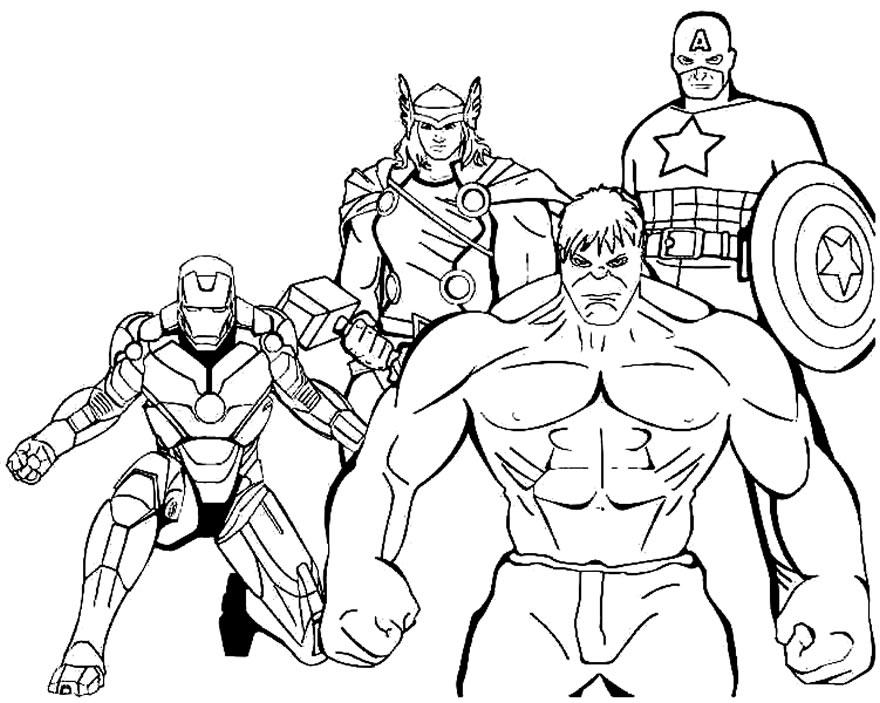 Imagens dos Vingadores para pintar