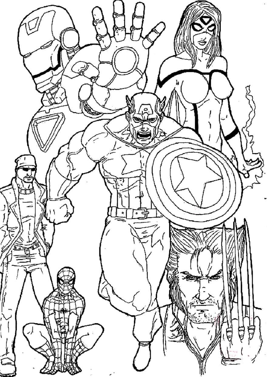 Imagens dos Vingadores para colorir