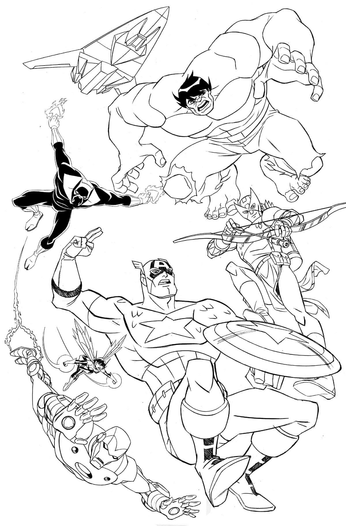 Desenhos dos Vingadores