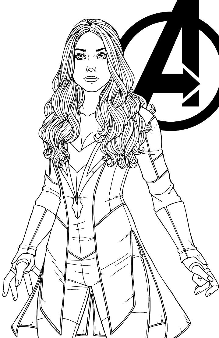 Desenho da Capitã Marvel