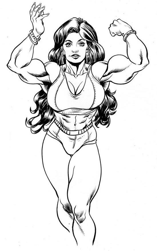 Desenho da Mulher Hulk