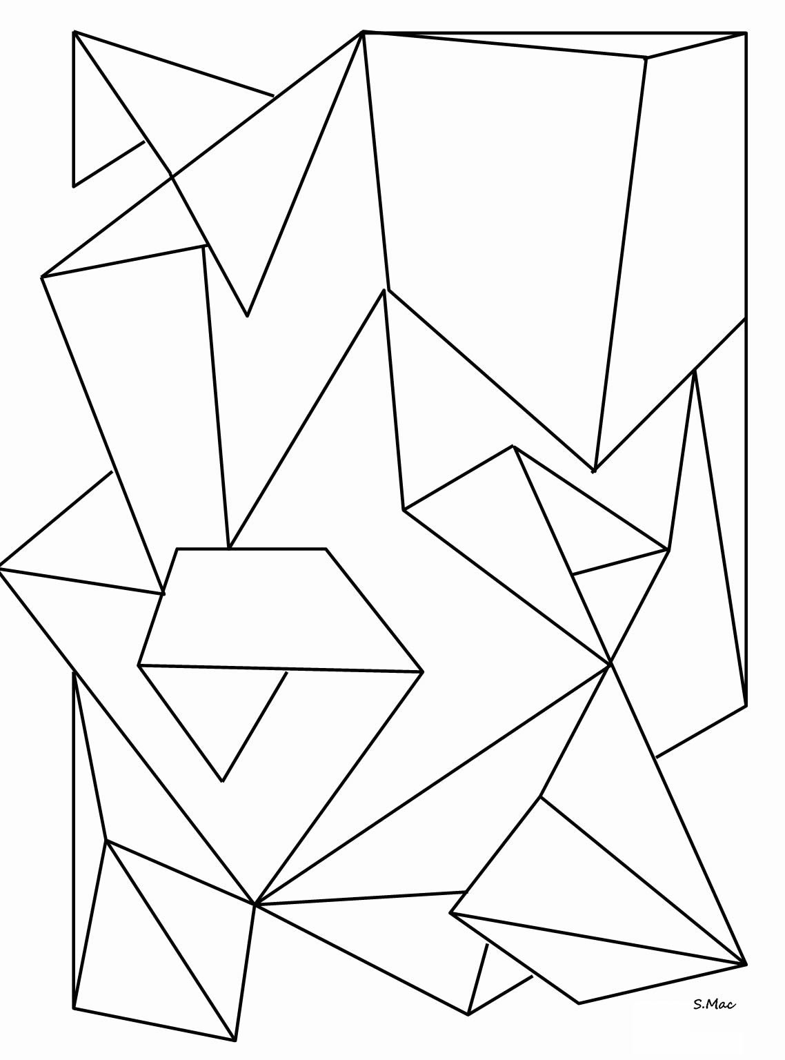 Molde geométrico para imprimir