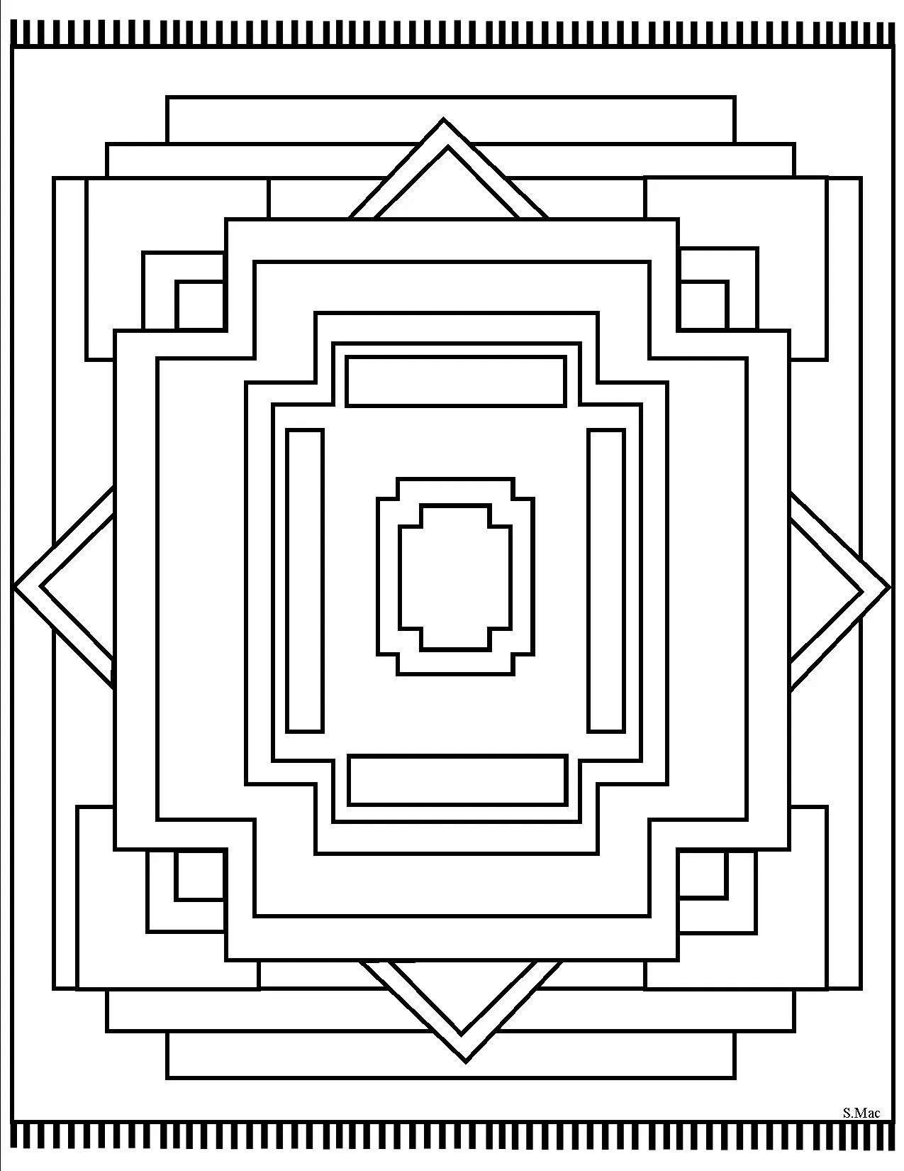 Imagem geométrico para imprimir
