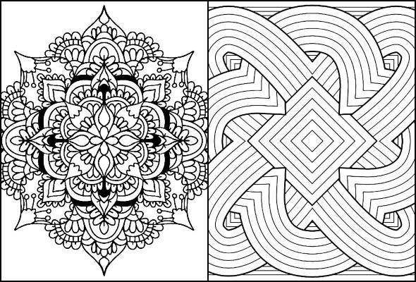 Desenhos geométricos para imprimir e colorir