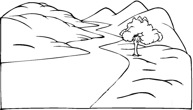Desenho de paisagem