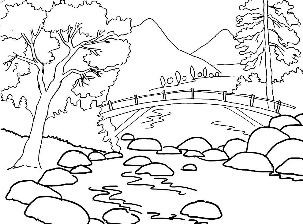 Imagem de paisagem para pintar