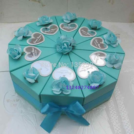 Caixa fatia de bolo