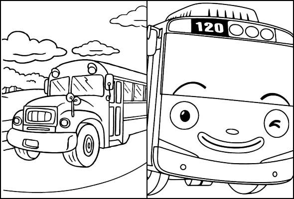 Desenhos de ônibus para colorir