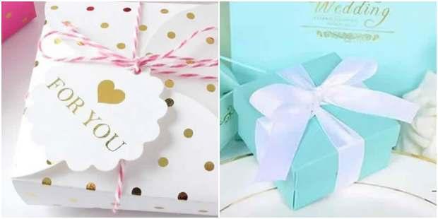 Moldes de caixas de papel para presente