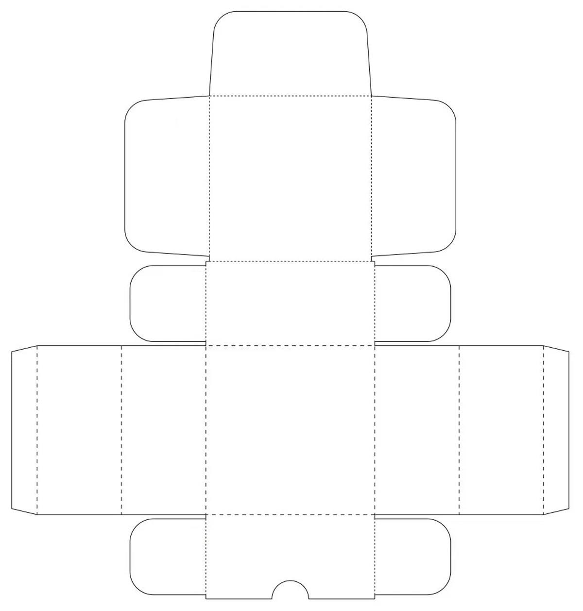 Molde de caixinha de papel para aniversário