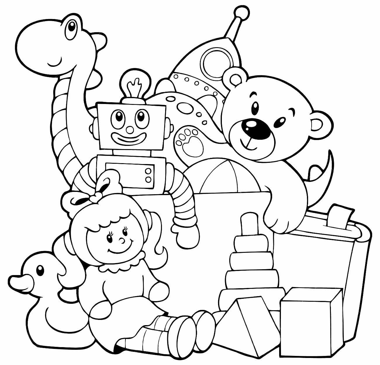 Desenho de brinquedo para colorir