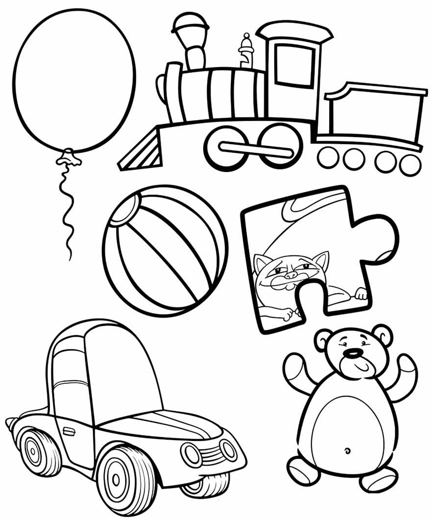 Desenho de brinquedos para colorir