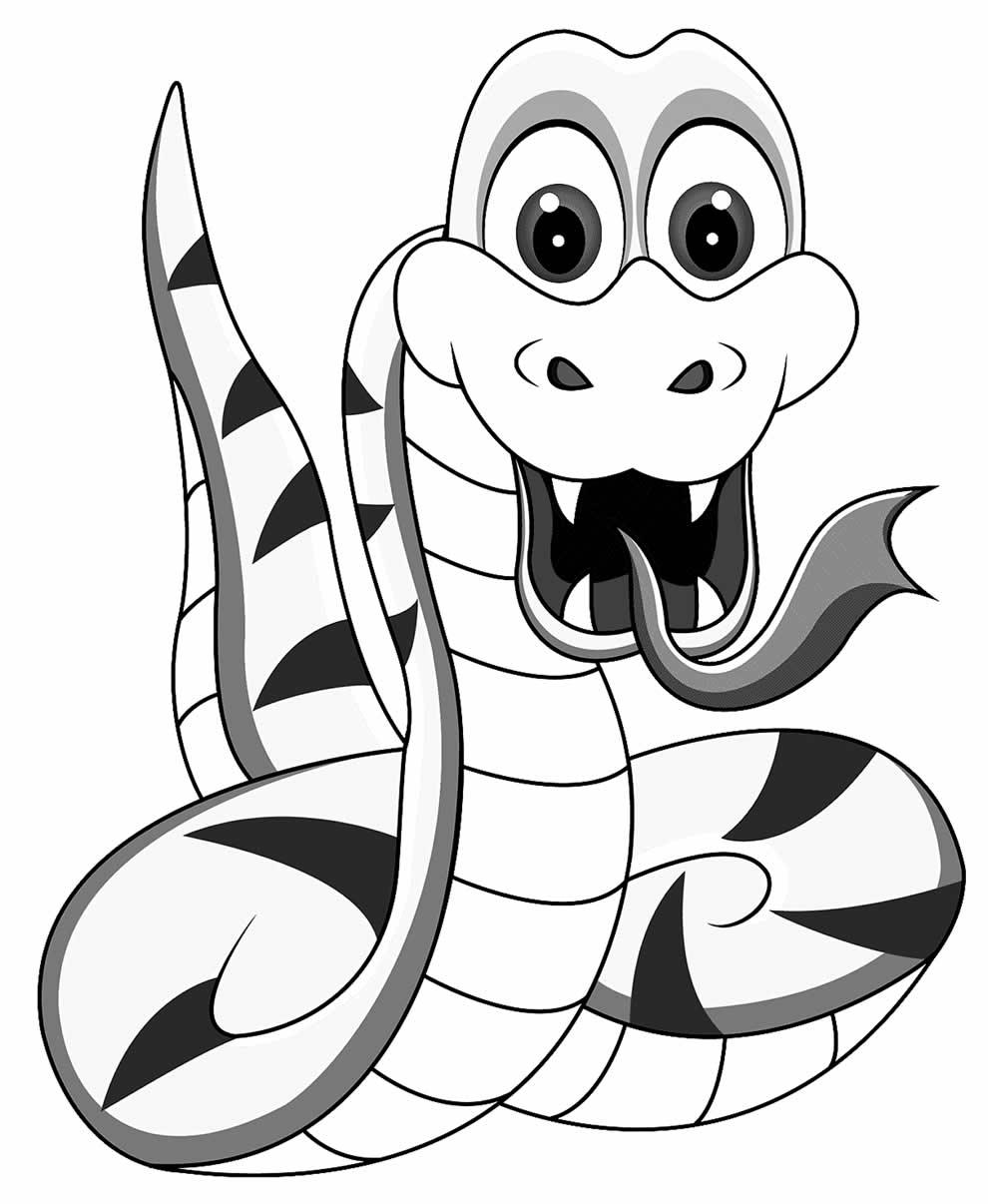 Imagem de cobra para colorir