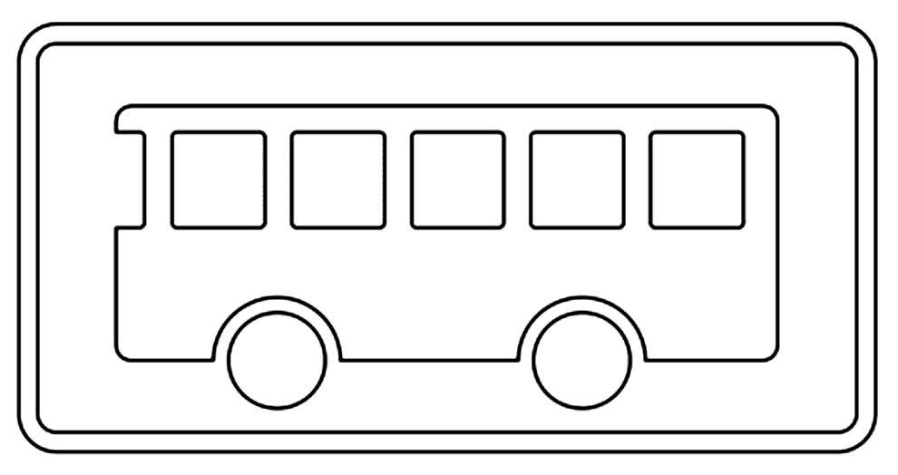 Desenho de ônibus para pintar