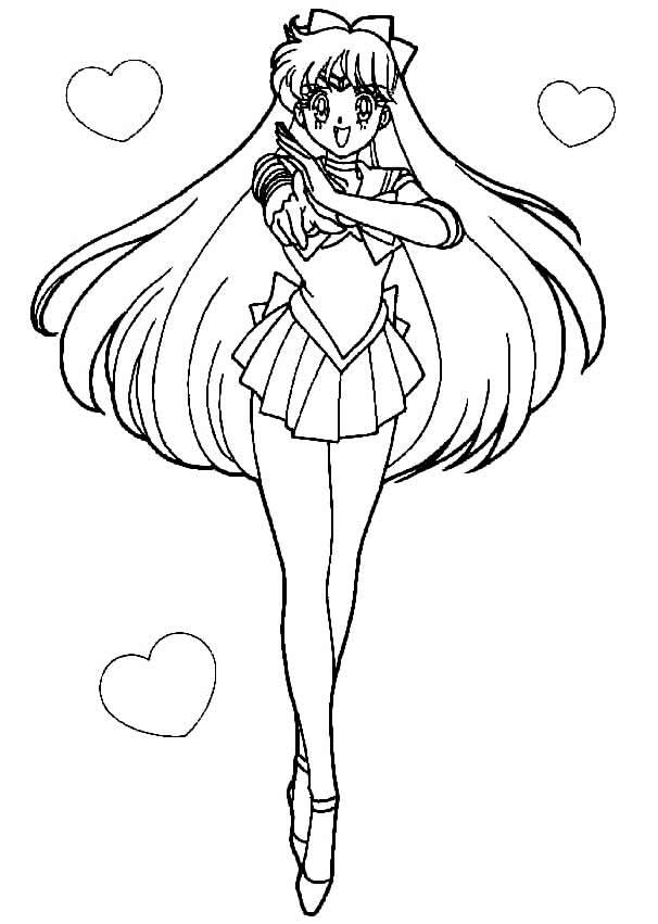 Desenho de Sailor Moon para pintar